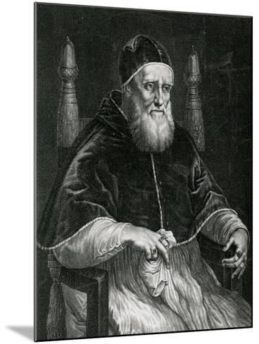 Pope Julius II (1443-1513)-Raphael-Mounted Giclee Print