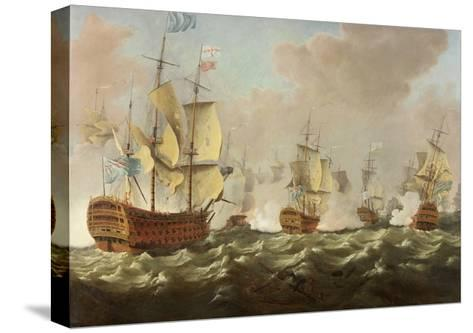 A Naval Engagement-Richard Paton-Stretched Canvas Print