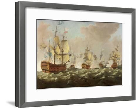 A Naval Engagement-Richard Paton-Framed Art Print