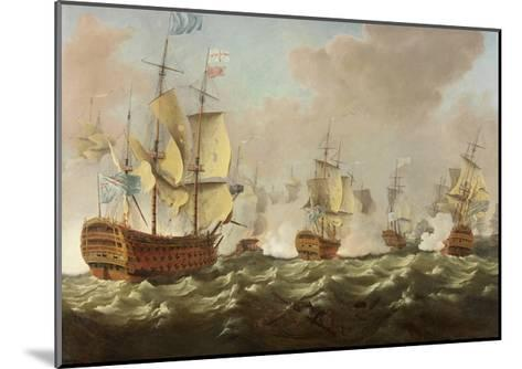 A Naval Engagement-Richard Paton-Mounted Giclee Print