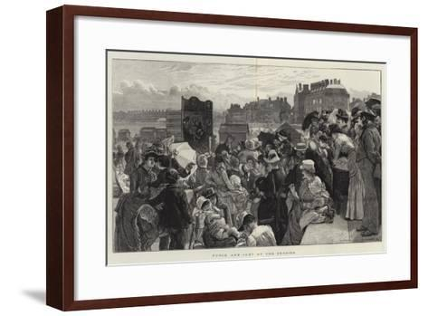 Punch and Judy at the Seaside-Robert Barnes-Framed Art Print