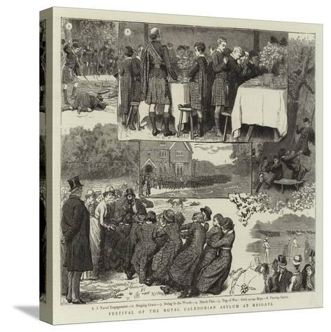 Festival of the Royal Caledonian Asylum at Reigate-Robert Barnes-Stretched Canvas Print