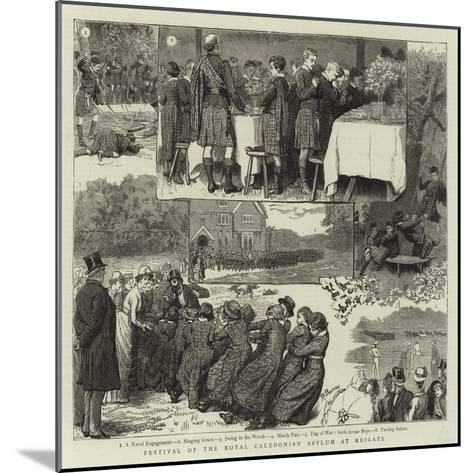 Festival of the Royal Caledonian Asylum at Reigate-Robert Barnes-Mounted Giclee Print