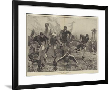 Amusements in Camp, a Menagerie Race-Richard Caton Woodville II-Framed Art Print