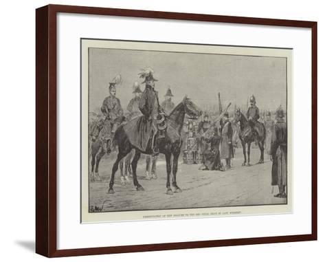 Presentation of New Colours to the 18th Royal Irish by Lady Wolseley-Richard Caton Woodville II-Framed Art Print
