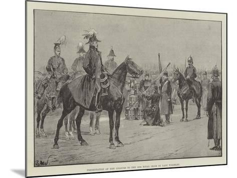 Presentation of New Colours to the 18th Royal Irish by Lady Wolseley-Richard Caton Woodville II-Mounted Giclee Print