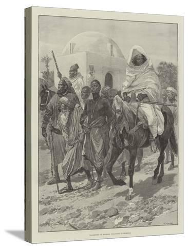 Transport of Moorish Prisoners in Morocco-Richard Caton Woodville II-Stretched Canvas Print