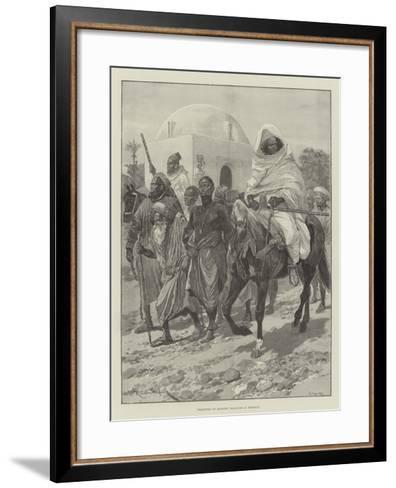 Transport of Moorish Prisoners in Morocco-Richard Caton Woodville II-Framed Art Print
