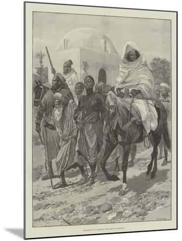 Transport of Moorish Prisoners in Morocco-Richard Caton Woodville II-Mounted Giclee Print