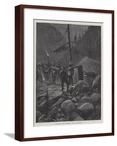 Under the Red Robe-Richard Caton Woodville II-Framed Art Print