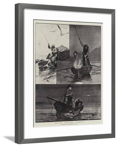 Sea-Fishing Off the Brittany Coast-Richard Caton Woodville II-Framed Art Print