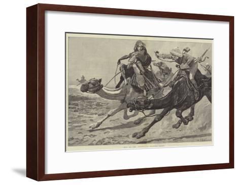 War in the Desert, a Running Fight-Richard Caton Woodville II-Framed Art Print