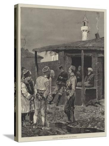 Bulgarian Bandits Brought into Roumelia-Richard Caton Woodville II-Stretched Canvas Print