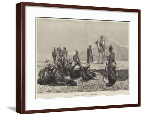 The Soudan Expedition, a Reconnaissance-Richard Caton Woodville II-Framed Art Print
