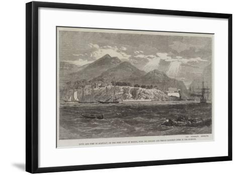 Town and Fort of Acapulco-Richard Principal Leitch-Framed Art Print