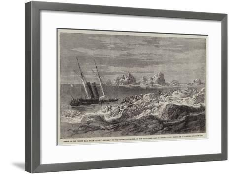 Wreck of the Jersey Mail Steam-Packet Express on the Grunes Houillieres-Richard Principal Leitch-Framed Art Print