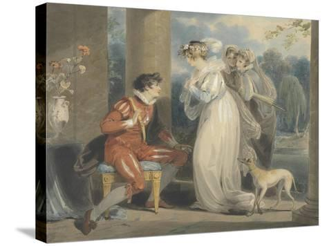 Rosebud, or the Judgement of Paris, 1791 (W/C and Bodycolour over Graphite on Paper)-Richard Westall-Stretched Canvas Print