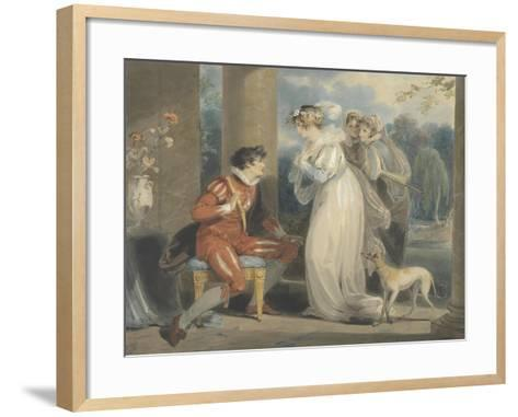 Rosebud, or the Judgement of Paris, 1791 (W/C and Bodycolour over Graphite on Paper)-Richard Westall-Framed Art Print