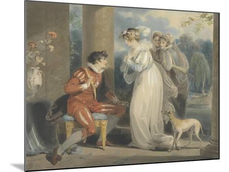 Rosebud, or the Judgement of Paris, 1791 (W/C and Bodycolour over Graphite on Paper)-Richard Westall-Mounted Giclee Print