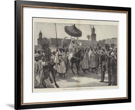 The British Mission to Morocco-Richard Caton Woodville II-Framed Art Print
