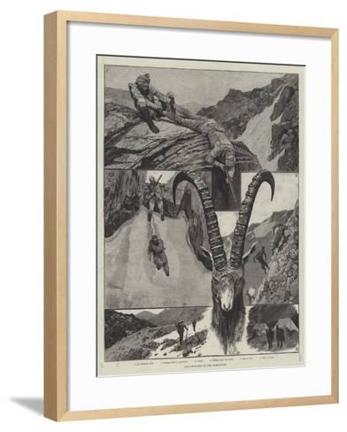 Ibex-Shooting in the Himalayas-Richard Caton Woodville II-Framed Art Print