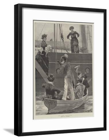 At the Regatta-Richard Caton Woodville II-Framed Art Print