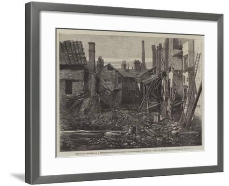 The Fatal Explosion at a Percussion-Cap Manufactory in Graham-Street, Birmingham, View of the Ruins-Richard Principal Leitch-Framed Art Print