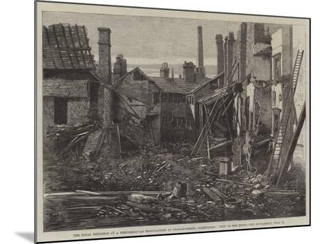 The Fatal Explosion at a Percussion-Cap Manufactory in Graham-Street, Birmingham, View of the Ruins-Richard Principal Leitch-Mounted Giclee Print