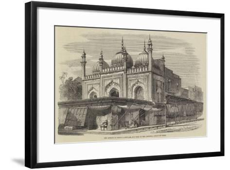 The Mosque of Roshun-A-Dowlah, and Part of the Principal Street of Delhi-Richard Principal Leitch-Framed Art Print