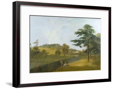 Wilton, Inigo Jones Stables, Temple Copse and Sir William Chambers' Arch-Richard Wilson-Framed Art Print