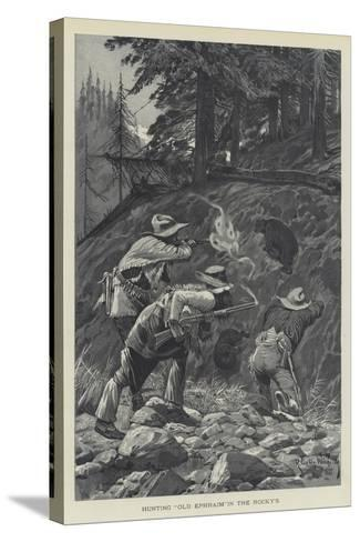 Hunting Old Ephraim in the Rocky's-Richard Caton Woodville II-Stretched Canvas Print