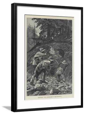 Hunting Old Ephraim in the Rocky's-Richard Caton Woodville II-Framed Art Print