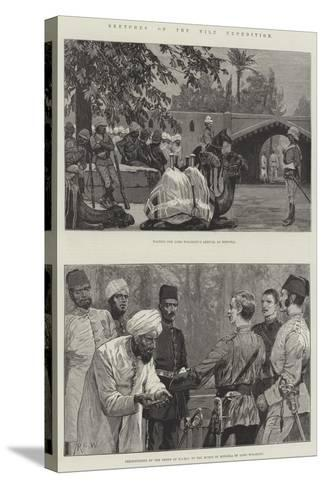 Sketches of the Nile Expedition-Richard Caton Woodville II-Stretched Canvas Print