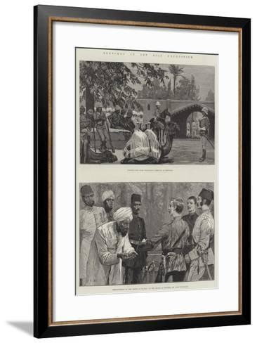 Sketches of the Nile Expedition-Richard Caton Woodville II-Framed Art Print