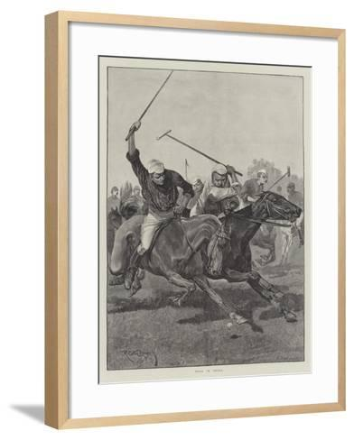 Polo in India-Richard Caton Woodville II-Framed Art Print