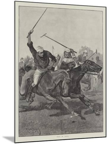 Polo in India-Richard Caton Woodville II-Mounted Giclee Print