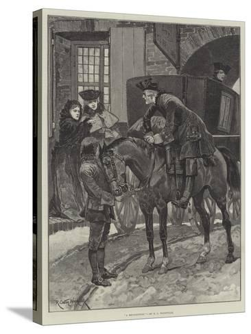 A Recognition-Richard Caton Woodville II-Stretched Canvas Print