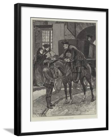 A Recognition-Richard Caton Woodville II-Framed Art Print