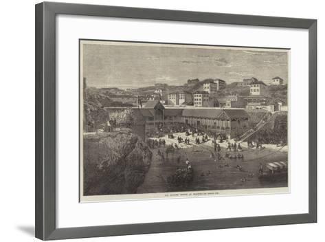 The Morning Lounge at Biarritz-Richard Principal Leitch-Framed Art Print