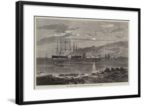 The Great Eastern at Portland-Richard Principal Leitch-Framed Art Print
