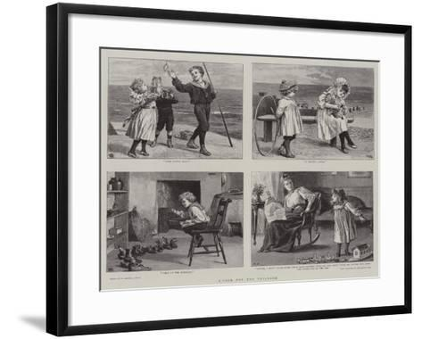 A Page for the Children-Robert Barnes-Framed Art Print