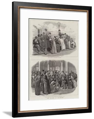 The Season at Brighton-Robert Barnes-Framed Art Print