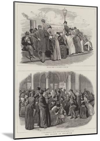 The Season at Brighton-Robert Barnes-Mounted Giclee Print