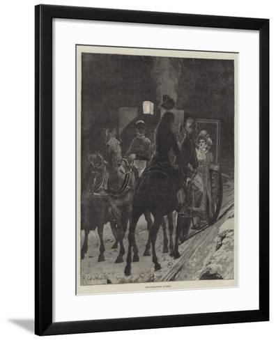 The Interrupted Journey-Richard Caton Woodville II-Framed Art Print