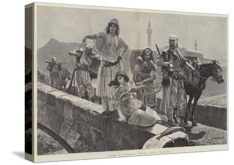 Life in Albania, Gipsy Girls Fishing-Richard Caton Woodville II-Stretched Canvas Print