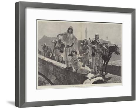 Life in Albania, Gipsy Girls Fishing-Richard Caton Woodville II-Framed Art Print