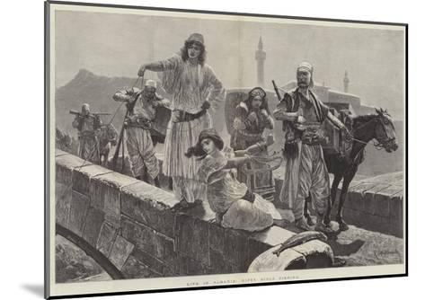 Life in Albania, Gipsy Girls Fishing-Richard Caton Woodville II-Mounted Giclee Print