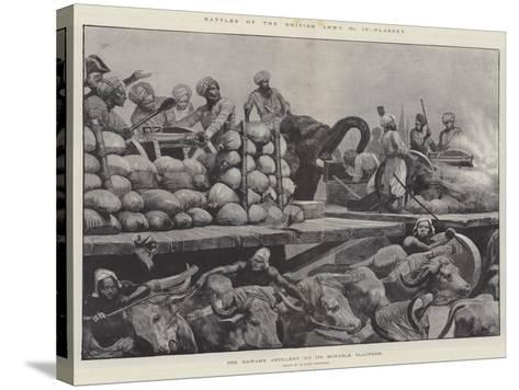 Battles of the British Army, Plassey-Richard Caton Woodville II-Stretched Canvas Print
