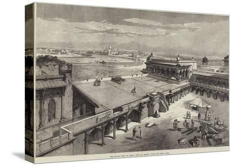 The Royal Visit to India, the Taj Mahal, from the Fort, Agra-Richard Principal Leitch-Stretched Canvas Print