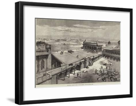 The Royal Visit to India, the Taj Mahal, from the Fort, Agra-Richard Principal Leitch-Framed Art Print
